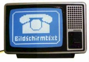 Fernseher mit Btx-Logo